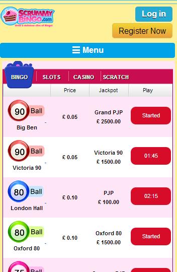 Scrummy Bingo lobby image